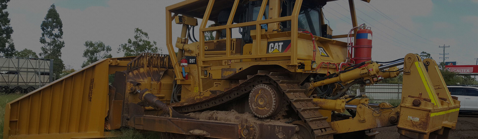Caterpillar Heavy Machine Banner