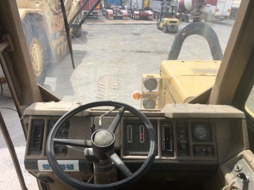 1988 Caterpillar 657E Motor Scraper Cab View with Steering Wheel
